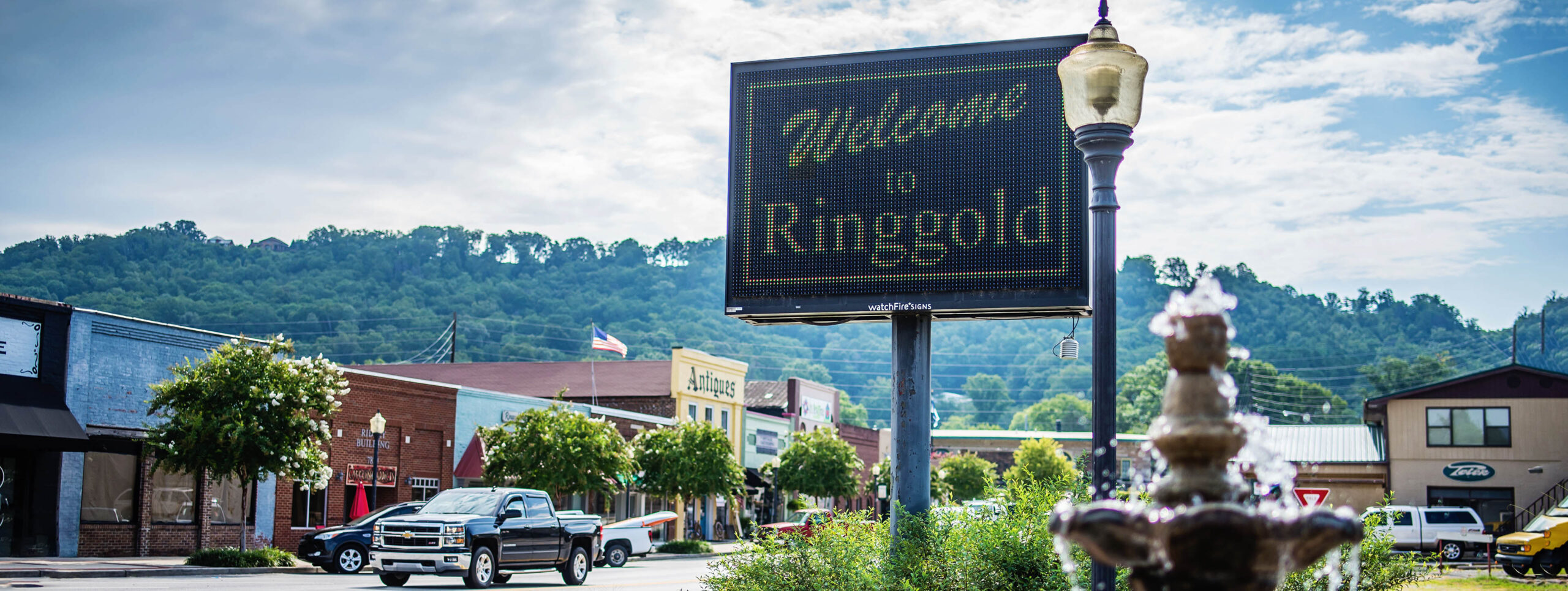 welcome to ringgold sign on skyline